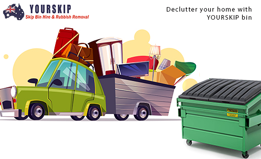 Decluttering Your Home with the help of a Skip Bin